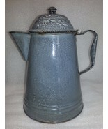 Antique Graniteware Speckled Coffee Pot w/ Hing... - $18.69