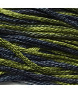 Graveyard Moss 6 strand hand dyed embroidery fl... - $2.00