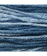 Something Blue 6 strand hand dyed embroidery fl... - $2.00