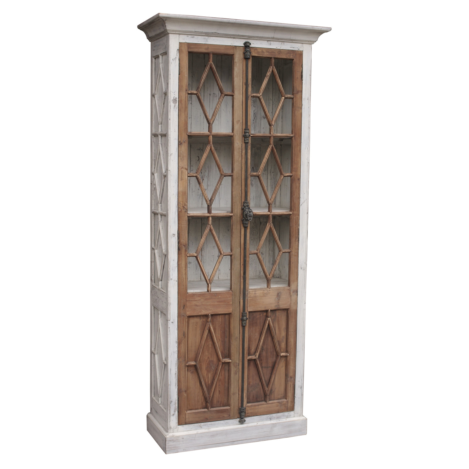 Restoration hardware horchow french casement glass fretwork armoire bookshelf cabinets cupboards - Restoration hardware cabinets ...
