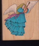 Rubber Stamp Hero Arts Angel With Lyre Christma... - $6.50