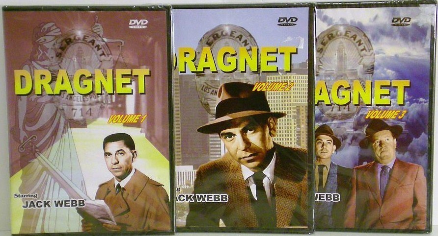 Dragnet Volumes 1,2,3 starring Jack Webb DVD Television series