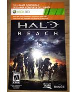 Halo: Reach, xbox 360 game Full Download card c... - $9.99