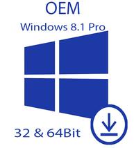 Windows 8.1 Pro | 32/x64Bit | OEM License Code ... - $35.00