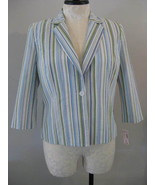 Dressbarn Seersucker Ladies Jacket Size XL NWT - $21.00