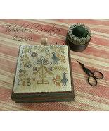 Peacock Garden Pin Box cross stitch chart Threa... - $9.00