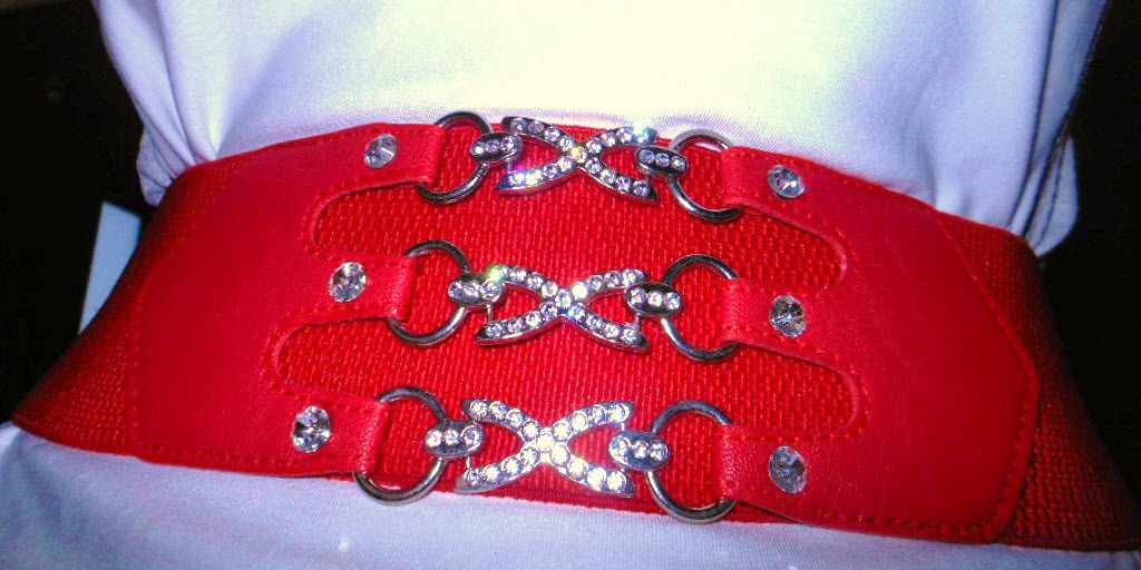 "New Red Belt Cinch 3"" Wide Belt Takes Inches off Waist Immediately! OS"