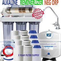 Reverse Osmosis Alk. Ionizer Far Infrared Neg ORP 100GPD 3 Year Filter Supply - $222.00