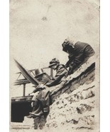 Very Old Photo Women in Hats FISH on BRIDGE Gre... - $6.00