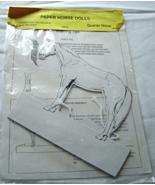 Paper Horse Dolls Quarter Horse NWOT 1988 - $19.99