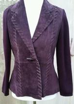 Stonebridge Womens Leather Purple/Plum Jacket C... - $56.10