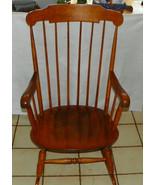 Maple Boston Rocker / Rocking Chair by Nichols ... - $399.00