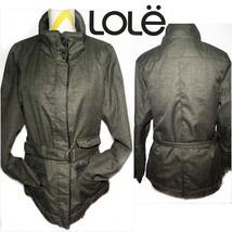 Lole Women's Gray Jacket W Waist Belt Size 12 - $54.45