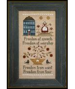 Four Freedoms cross stitch chart Little House N... - $7.65