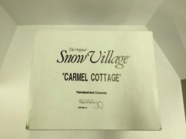 DEPT 56 CARMEL COTTAGE #54666 SNOW VILLAGE / RE... - $25.50