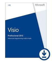 Microsoft Visio Professional 2013 32/64-bit - 1... - $58.99