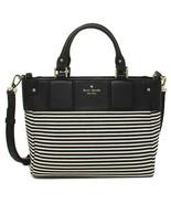 Kate Spade Gillian Summit Court black stripe Cr... - $190.76