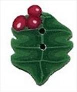 Tiny Holly 4447t handmade clay button Just Anot... - $1.80