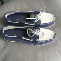 G.H. Bass & Co blue and white canvas suede boat... - $20.00