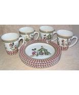 Debbie Mumm Mickeys Garden Set Of 4 Dessert Pla... - $50.00