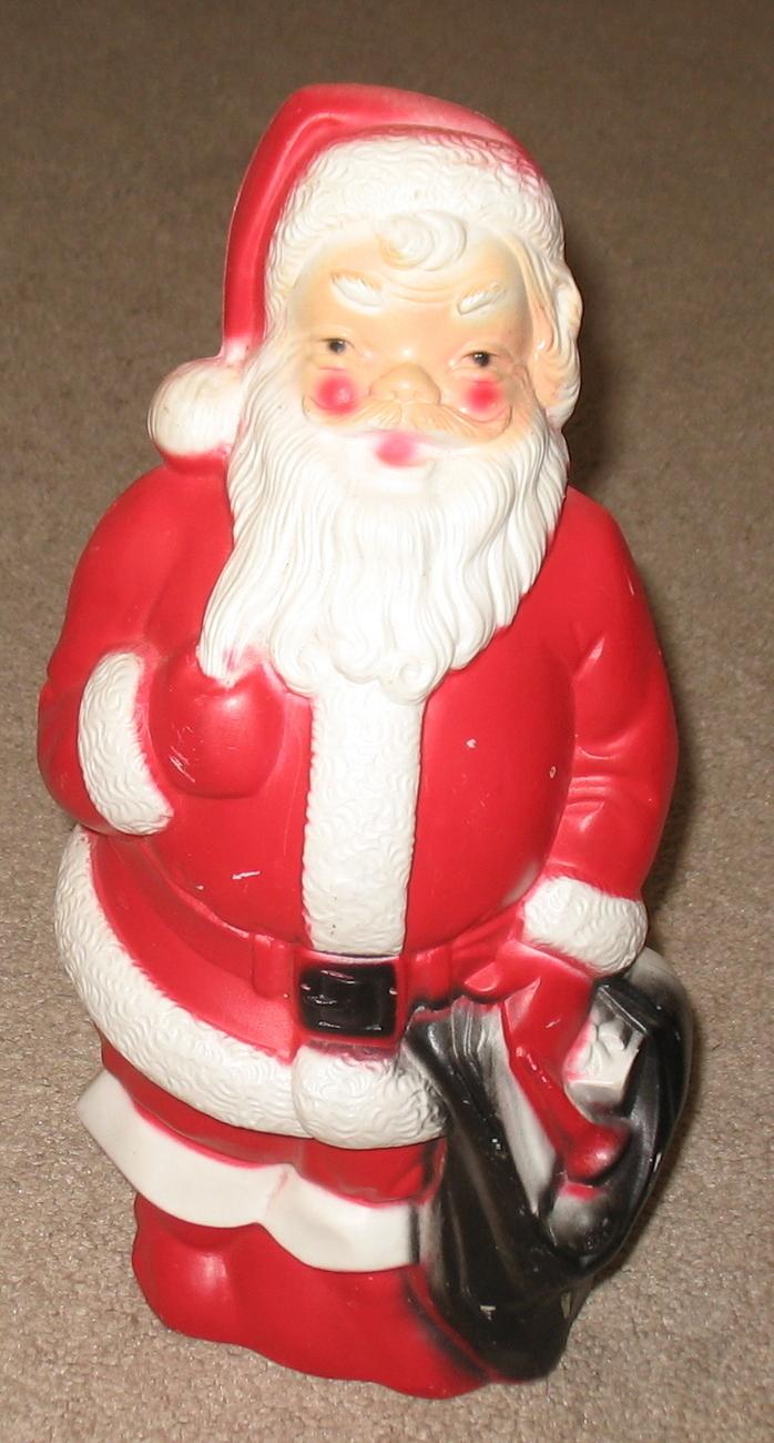 Vintage empire plastics lighted santa claus