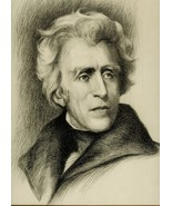 Stunning ETCHING of ANDREW JACKSON Signed by Ar... - $135.00