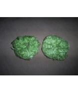 Two Mint Green Fuzzy Hair Scrunchi Pony Tail Ho... - $4.00
