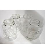 Quart Canning Fruit Jars 1970s, Obear Nester, Longlife Mason, Atlas Mason, set 4 - $7.99
