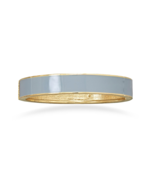 Soft Grey Enamel Fashion Hinged Bangle Bracelet... - $6.00
