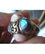 Silver Abalone Ring Chunky Statement - $30.00