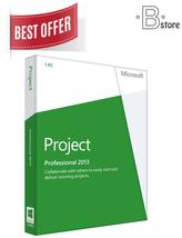 Microsoft Project Professional 2013 Genuine Lic... - $42.99