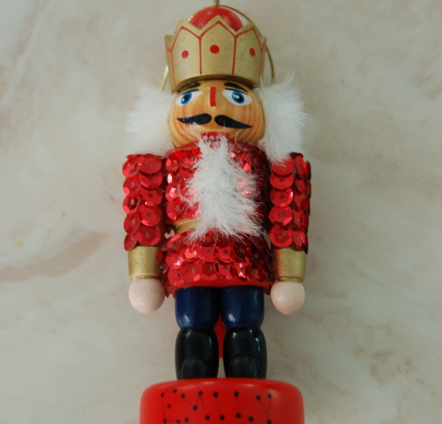 "Nutcracker Ornament 5"" tall"