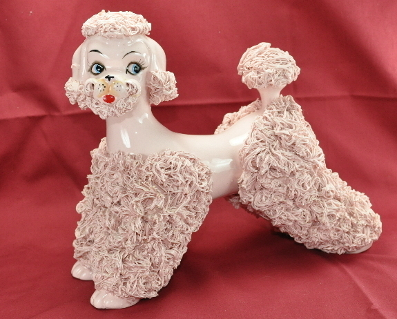 Vintage Pink Spaghetti Poodle Large 8 Inch Town And