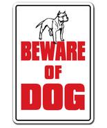 BEWARE OF DOG Sign dog pet parking pit bull sig... - $7.90