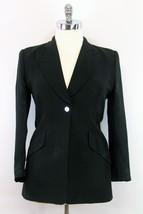 ESCADA - Size 42 L - Black Shimmer Floral Jacke... - $75.99