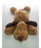 Chosun Puppy Dog Light & Dark Brown Laying Tongue Out Soft Plush Bean Bag 16