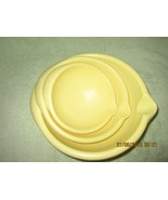 Set of 3 Vintage 1960s Yellow Plastic Mixing Bowls - $36.00