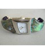 Seafoam Green Watch Dali Angle Dichroic Fused G... - $295.00