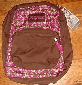 JanSport Superbreak Backpack Purple Pizzazz Picnic New