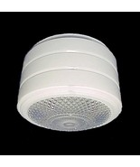 Utility Ceiling Light Shade Clear White Glass V... - $11.95