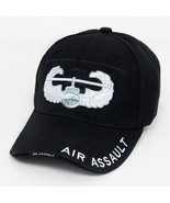 Cotton Embroidered Air Assault Black Unisex Cap - $17.82