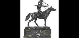 Bronze & Marble Sculpture of an Amazon on Horse... - $5,950.00