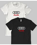 AUDI LOGO T-SHIRT RETRO SPORTS CAR AUTO FAN SHI... - $14.75