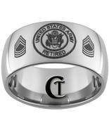 12mm Dome Tungsten Carbide U.S. Army Retired La... - $49.00