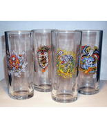 Ed Hardy Multi Skulls Highball Glass Set of 4 T... - $19.99
