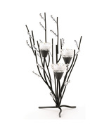 Crystal Tree Tealight Holder black boughs and c... - $21.99