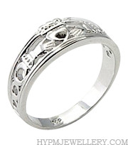 Handcrafted 925 Sterling Silver Claddagh Ring