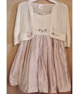 VICTORIA KIDS Silk Dress & Cardigan Set Size 4 ... - $88.11