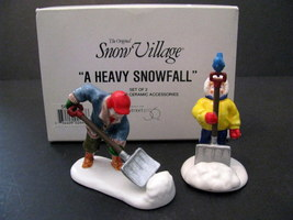 Dept 56 Snow Village A Heavy Snowfall Set of 2 ... - $16.99