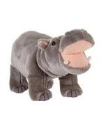 Fiesta Toys Plush 14'' Standing Gray HIPPO ~NEW~ - $15.79